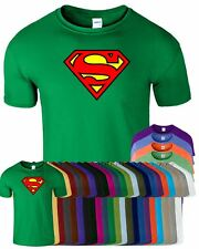 Superman Mens T-Shirt Top Classic Super Hero Comic T Shirt LIMITED OFFER