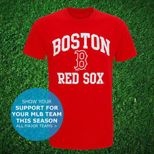 Boston Red Sox Logo Official T-Shirt USA MLB Top Jersey Baseball Unisex 2016 NEW