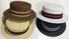 New Men's Bruno Capelo Hat Straw Boater Gatsby barbershop skimmer Fashion Colors