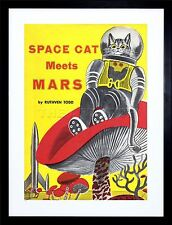 BOOK SPACE CAT MEETS MARS RUTHVEN TODD ROCKET FRAMED PRINT PICTURE MOUNT F12X208