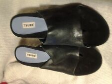 Tsubo Women's Shoes Size 8 Euro Size 38 Soft Leather  Black Suede Open Toe