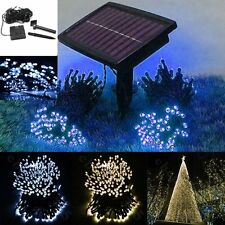 200/100 LED White Solar String Fairy Lights Outdoor Xmas Garden Lawn Xmas Party