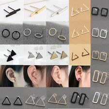 Europen minimalism Hollow-out Triangle square Geometry Punk Studs Earrings New