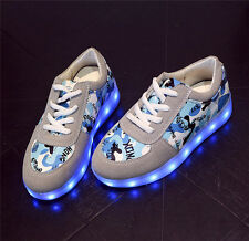 New Fashion Casual Led Light Up Boy Girls shoes Luminous Sneakers Kids Shoes