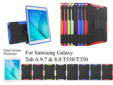 Screen Protector/ Shockproof Heavy Duty Case For Samsung Galaxy Tab A 9.7 & 8.0