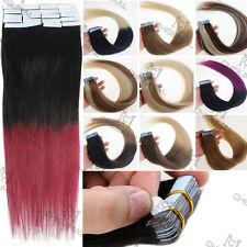 "AAAA+ PU Tape in 100% Virgin Brazilian Remy Human Hair Extensions 16""18""20"""