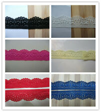 wholesale! 5-500 yards elastic lace ribbon, a variety of colors, DIY handmade