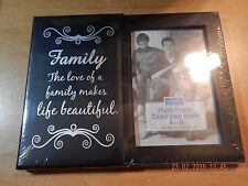 """PHOTO FRAME 4"""" X 6"""" SPECIAL MOMENTS FAMILY PLAQUE NWT 9"""" X 7"""" STAND HANGING WALL"""