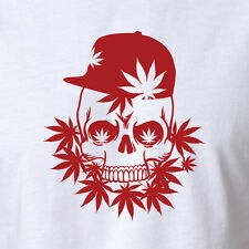 New Drug T-shirt Skull & Cannabis MMA Shirt Clothing Marijuana smoking pipe