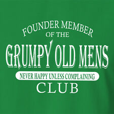 FUNNY T-SHIRT Founder Member Of The Grumpy Old Men Club 50th birthday gift