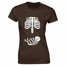 NEW pregnancy shirt Baby Skeleton Mum to be baby shower gift pregnant mum top