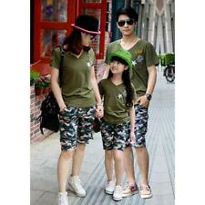 New Family Fitted Kids Couple Camouflage T-shirt Short Sleeve Men Women T-shirt