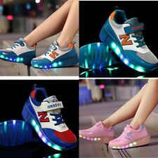 New Heelys Girls Boys Mens LED Roller Skate Sneaker Sport Trainers Unisex Shoes