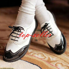 Women's Flats Heel Shoes Creeper Loafers Lace Up Flats Hiking Oxfords Plus Size