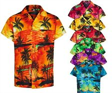 MENS HAWAIIAN SHIRT SHORT SLEEVE STAG BEACH HOLIDAY ALOHA SUMMER FANCY DRESS