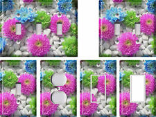 Flowers in Stones - Light Switch Covers Home Decor Outlet