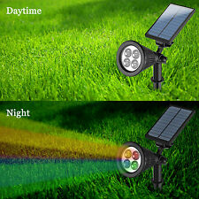 Solar Powered Waterproof LED Flood Spot Lawn Light Outdoor Pathway Security Lamp