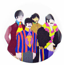 THE BEATLES YELLOW SUBMARINE BAND 25mm BADGE OFFICIAL BAND MERCHANDISE PB3611