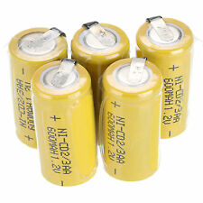 New AA Ni-Cd 1.2V 2/3AA 600mAh rechargeable battery NiCd Batteries QTY Choose