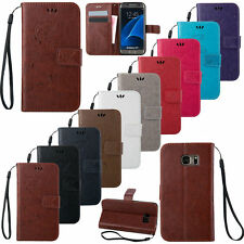 Filp Leather Wallet Stand Hand Strap Case Cover For Samsung Galaxy S7 Edge