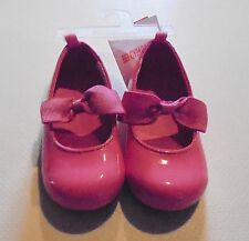 Gymboree Girls Pink Bow Patent Dress Shoes 6 7 NWT