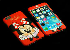 Disney Minnie Mouse Front + Back case cover Defender for Apple iPhone 6 6S Plus
