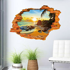 3D Removable Creative PVC Mural Decal Home Room Decor Wall Sticker 3Choices