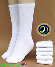 Men's White CREW Recycled Cotton Socks - Eco Friendly (3-PACK) Made in USA