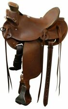 Showman Wade Old Timer FQHB Roping Saddle w/ Aluminum Stirrups *Roping Warranty*