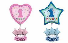 1st First Birthday Party Decoration Air Fill Foil Balloon Table Centrepiece Kit