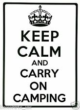 KEEP CALM AND CARRY ON CAMPING - Wall Art Vinyl Sticker 17 Colours 3 Sizes