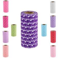 25yd Flocking Polka Dot Tulle Roll Spool Wedding Party DIY Decoration