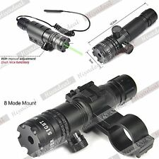 Green/Red Dot Laser Sight/Mounts With Remote Switch for Rifle Hunting Set SSTAA