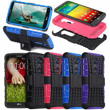 Hybrid Armor Grip Rugged Stand Case Cover Skin for LG G2 D800 / Optimus G2 D801