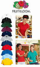 Fruit of the Loom Lady-Fit 65/35 Polo Sizes XS-2XL Ladies Women Girl