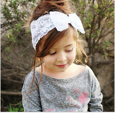 5PCS Kids Baby Girl Toddler Lace Bowknot Headband Hair Band Headwear Accessories