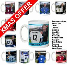 Personalised Football Team MANAGER Mugs (preview most clubs) CHRISTMAS SPECIAL