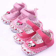 Infant Toddler Baby Boys Girls Crib Shoes Minnie Mouse Sandals Sneakers 0-18 M