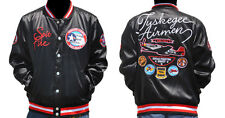 New! Mens Tuskegee Airmen Red Tails Satin Fraternity Jacket Button Up Coat