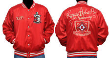 New! Mens Kappa Alpha Psi Metallic Satin Jacket Button Up Coat