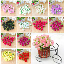 100pcs Roses Artificial Silk Flower Heads Party Wedding Home Decor Wholesale Lot