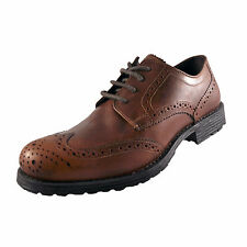 Red Tape Mens Tweed Formal Leather Smart Dress Brogues Shoes Tan