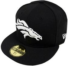 New Era Denver Broncos Black White 59fifty Fitted Cap Baseball Limited Edition