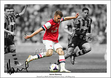 AARON RAMSEY ARSENAL SIGNED PHOTO POSTER PRINT SQUAD TEAM FA CUP FINAL GOAL