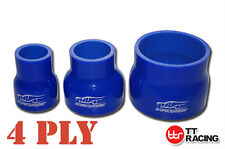 4 Ply Silicone Hose Reducer Straight Joiner Silicon Turbo Air Piping Blue