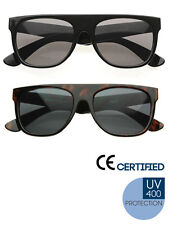 SUPER FLAT TOP WAYFARER CELEBRITY EASY-E KID CUDI SUNGLASSES - BLACK / BROWN