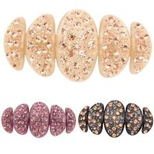 Fashion Acrylic Large Full Crystal Rhinestone Hair Clip pin Barrette Ornament