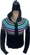 Womens AEROPOSTALE Multi Stripe Hooded Cardigan Sweater size S NWT #9212