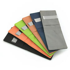 Men PULeather Silver Money Clip Bifold Slim Wallet ID Credit Card Holder Fashion