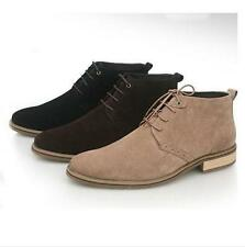 Men's Casual lace up leather lace up  dessert chukka Boots shoes boy ankle boots